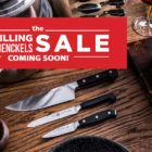 mix of henckels products - knives and cookware