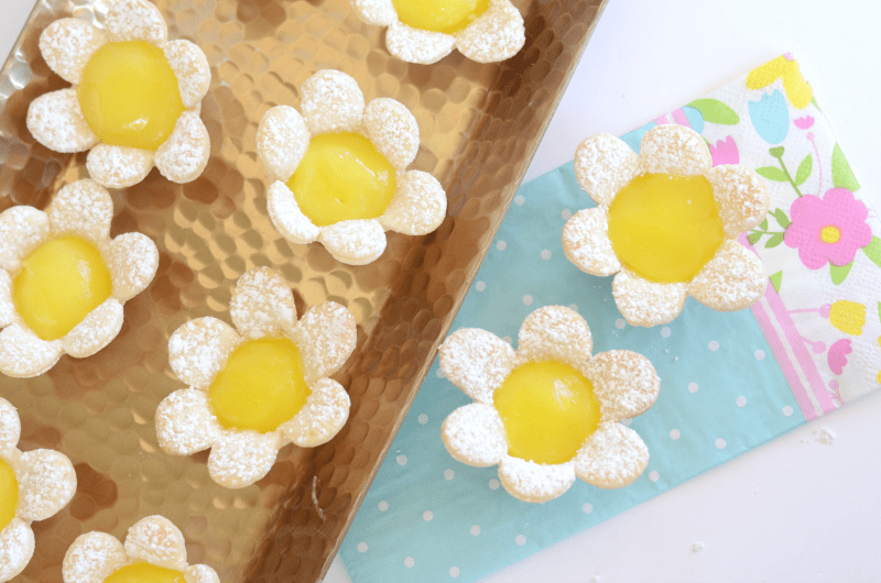 lemon tarts in the shape of a flower