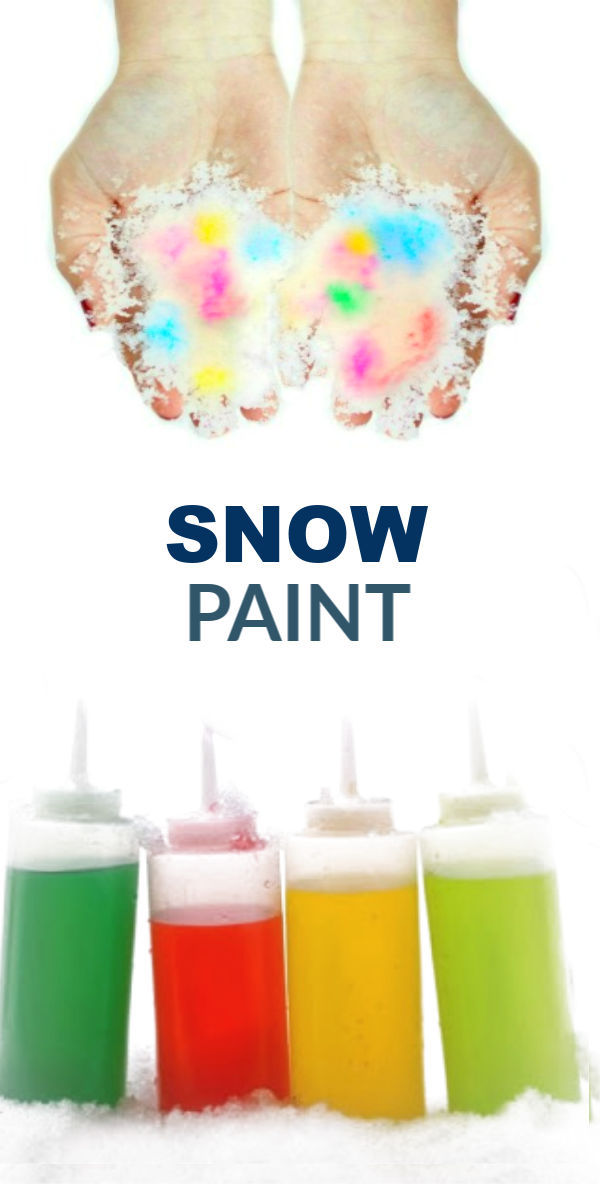 paint in a squirt bottle used on snow