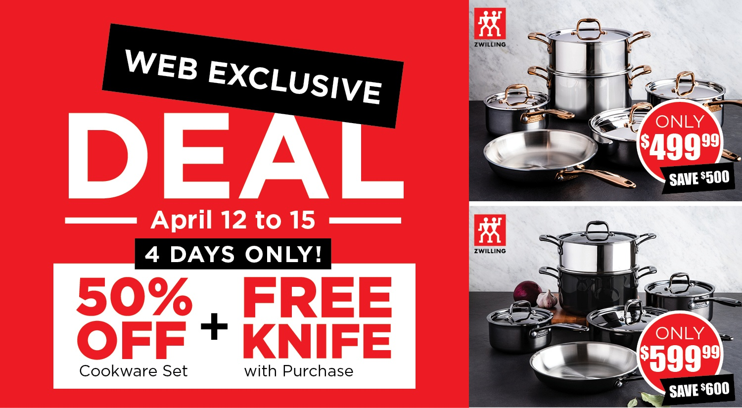 zwilling j.a. henckels web exclusive deal for cookware set