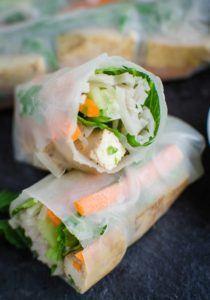 veggie spring rolls in rice paper