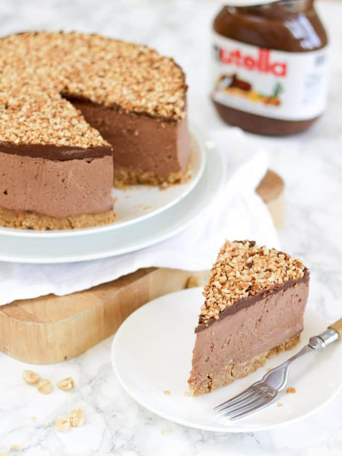 Ultimate No Bake Nutella Cheesecake Recipe by Taming Twins
