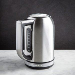 brushed stainless steel kitchenaid kettle