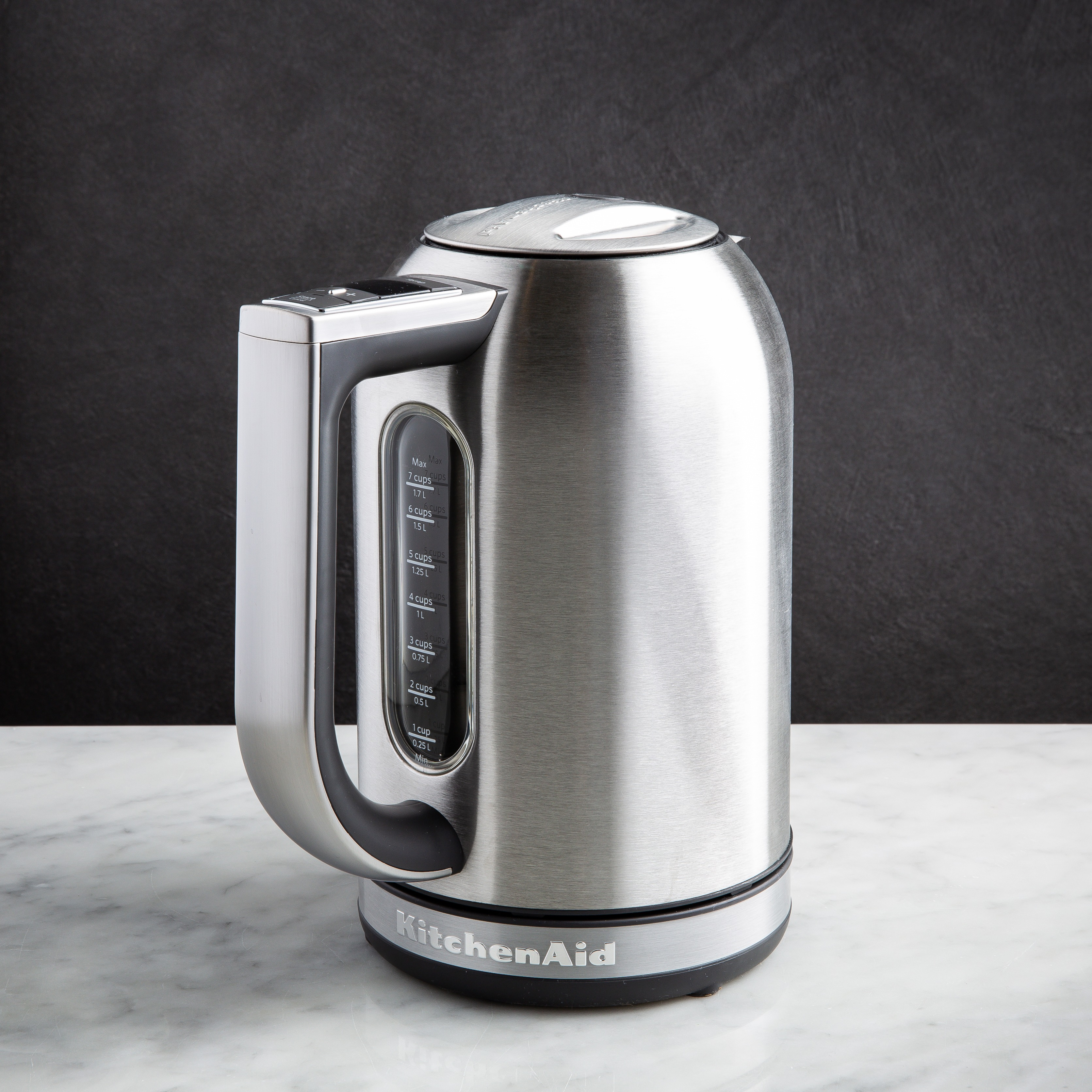brushed stainless steel kitchenaid kettle