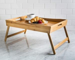 bamboo tray for breakfast in bed