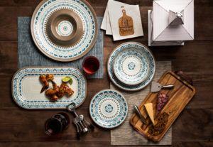homespun melamine dinnerware collection