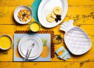 pineapple melamine dinnerware collection