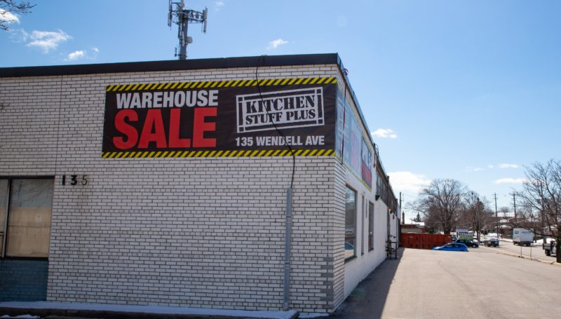 Exterior of North York Warehouse Sale