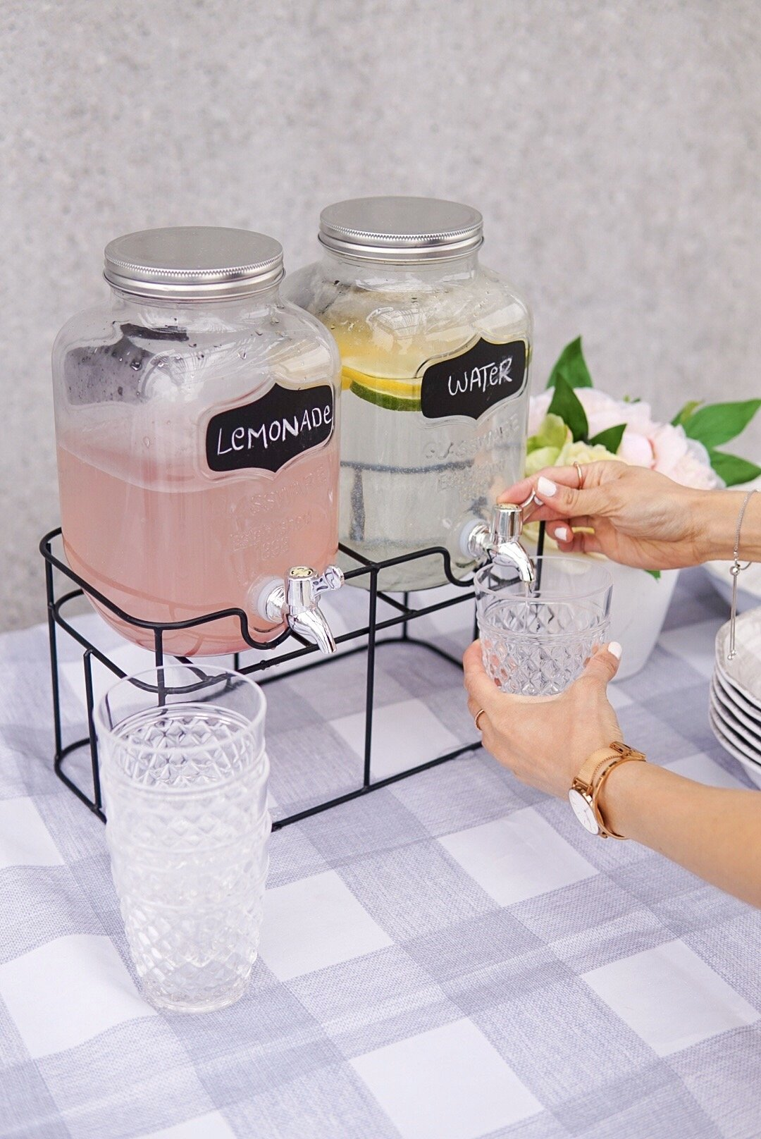 2 jar beverage dispenser with juice