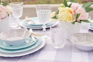 clear acrylic wine glasses and old fashioned glasses