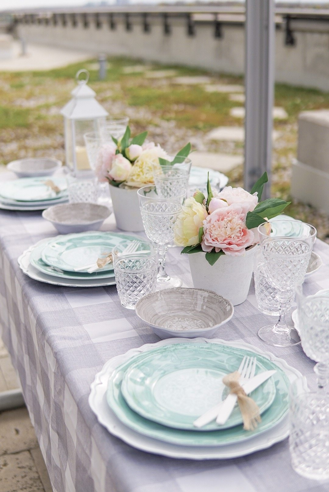 blue farmhouse plates