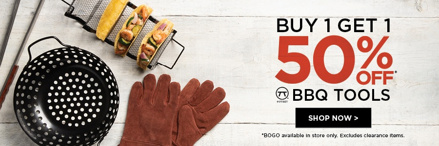 buy one get one 50% off on outset bbq tools