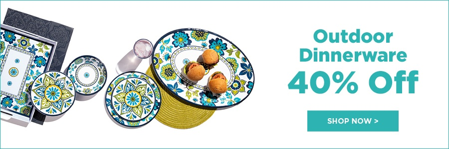 40% off outdoor dinnerware summer sales