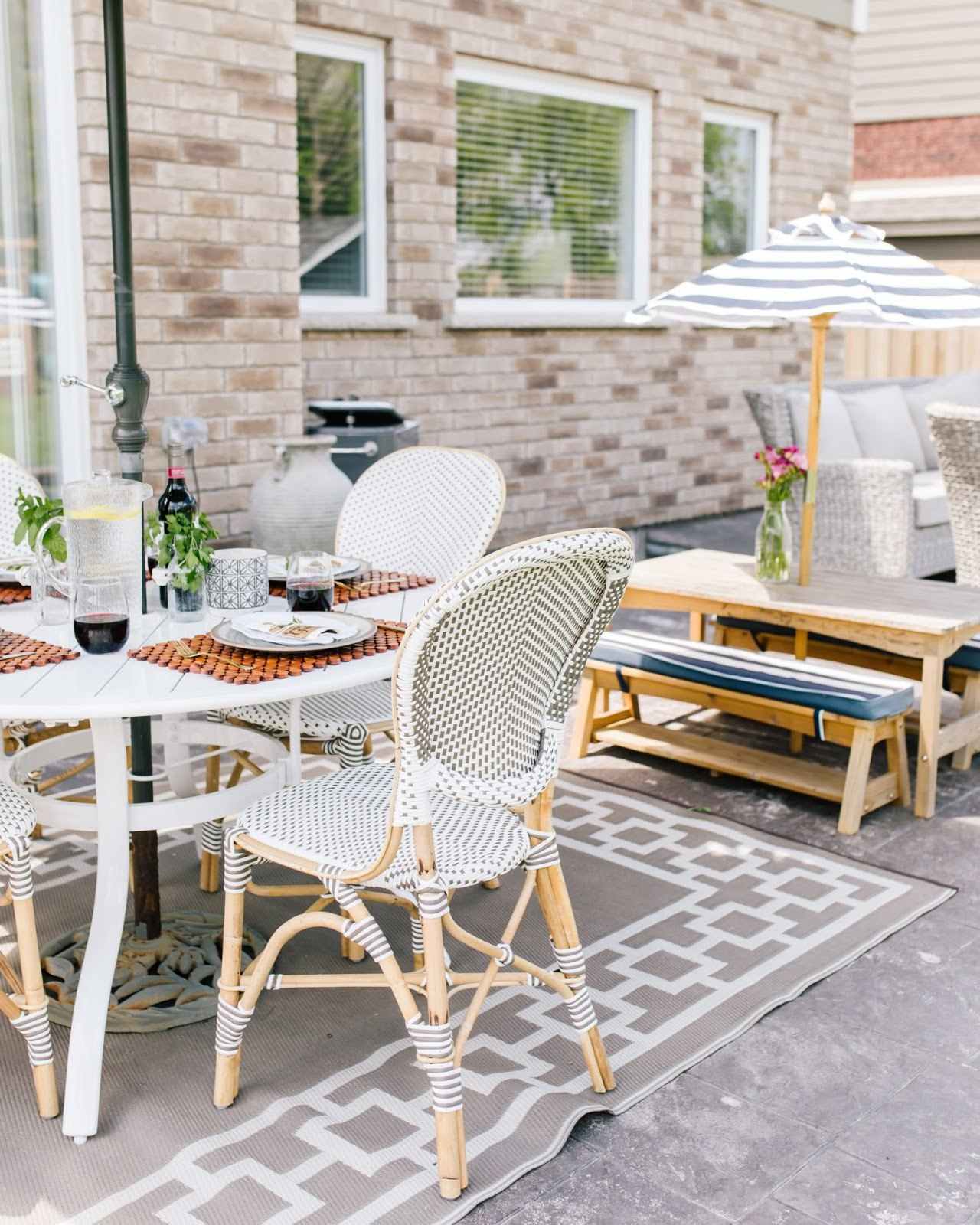 father's day outdoor tablescape party