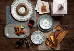 summer nights tabletop collection with southwest and speckled dinnerware