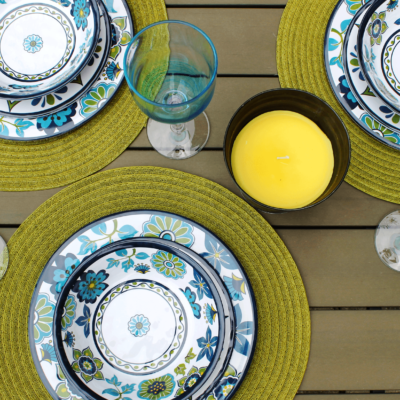 madrid melamine dinnerware tablescape