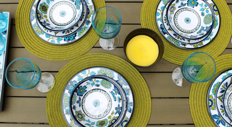 madrid melamine dinnerware tablescape