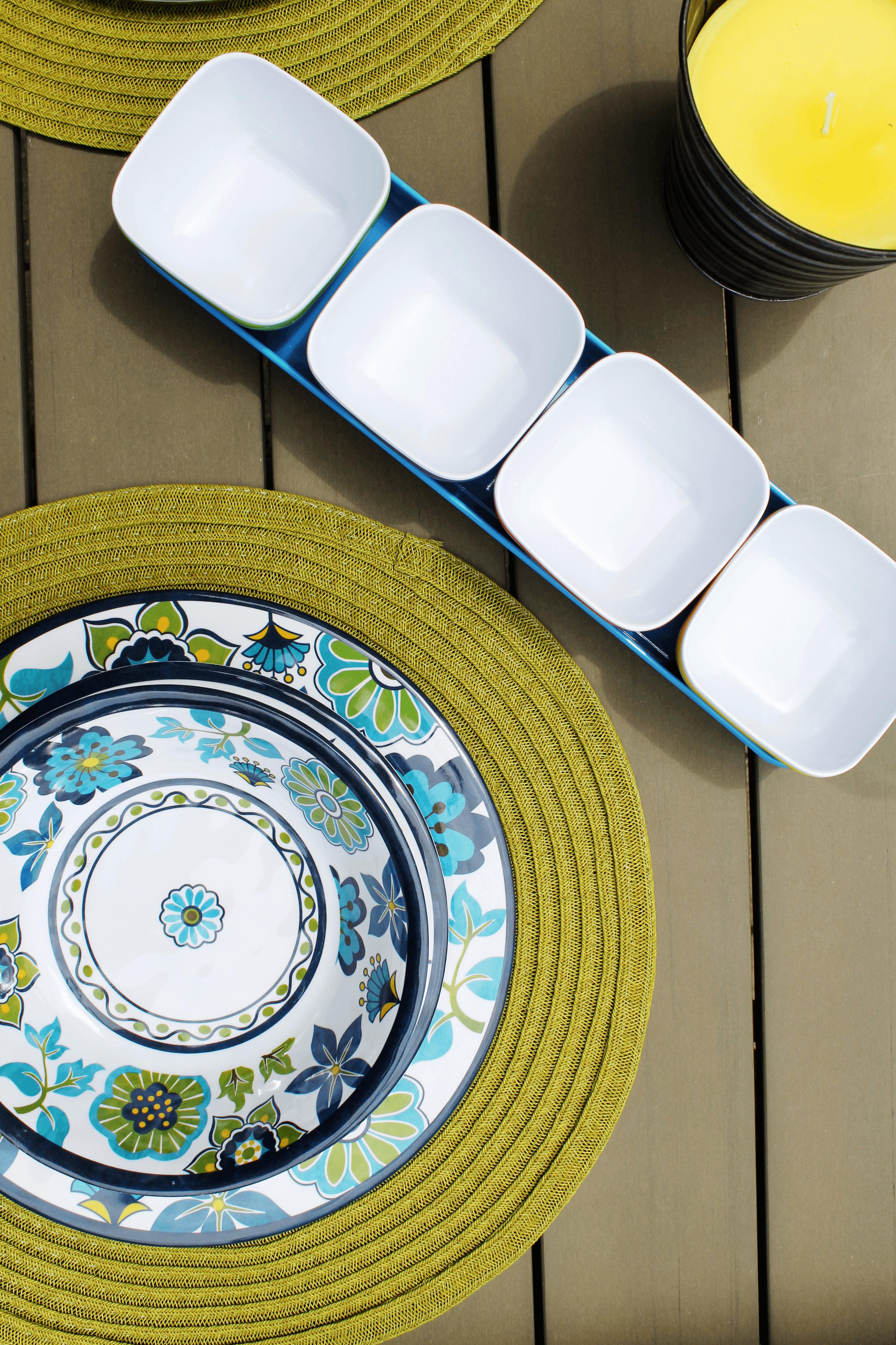 colourful melamine mini bowls