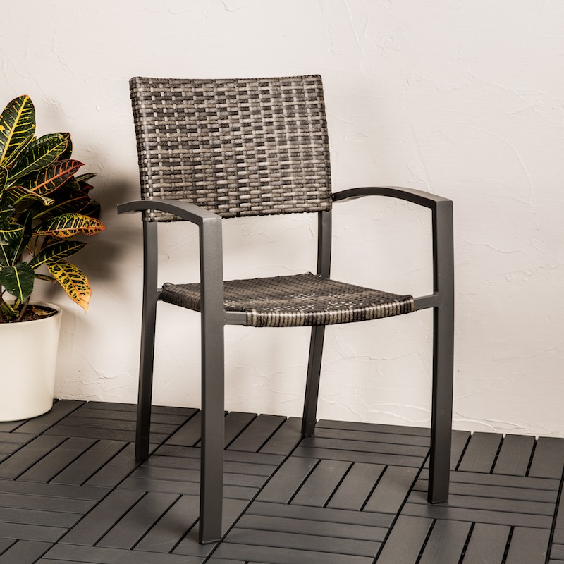 grey patio chair