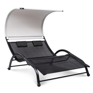 black/grey double seat lounger