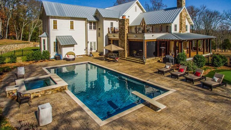 miley cyrus backyard inspiration with pool