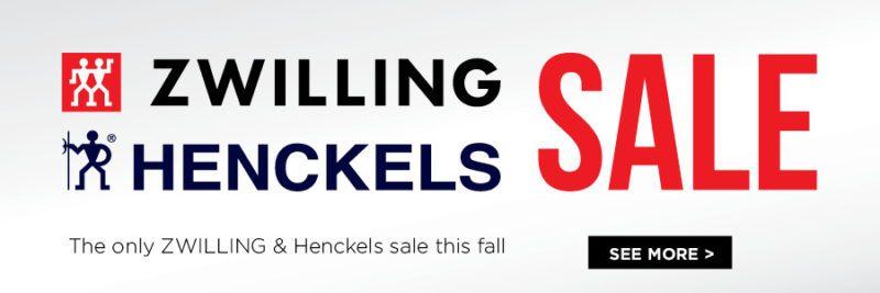 zwilling henckels sale on now