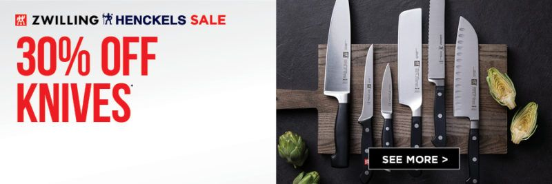 save 30% on knives during the zwilling and henckels sale