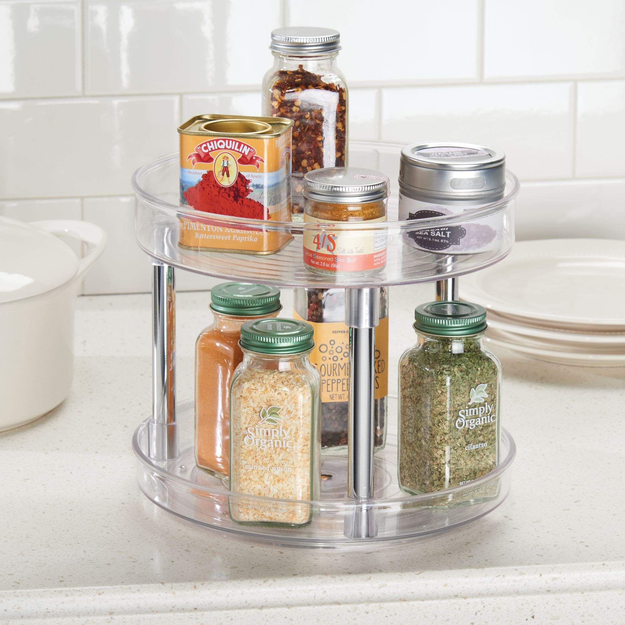 2-tier turntable with spices