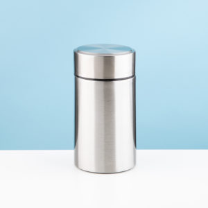 silver thermal food storage jar