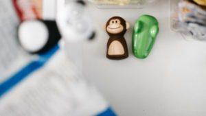 panda, monkey, and crocodile bag clips