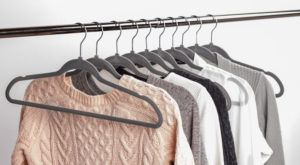 velvet hangers - things you need in your dorm room
