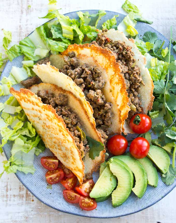 low-carb taco shells made with cheese
