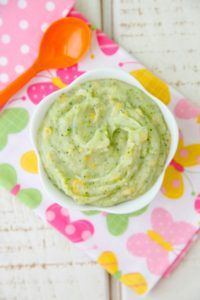 broccoli, potato, and cheese baby food puree