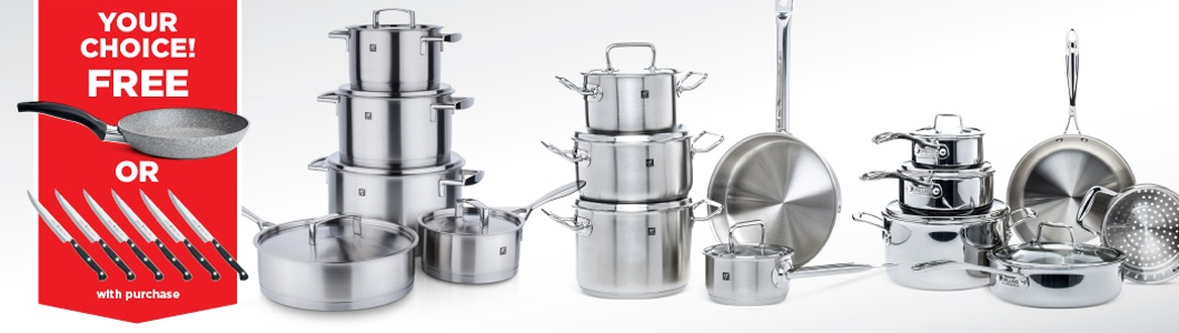 cookware - free gifts during zwilling & henckels sale