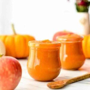 apple and pumpkin baby food puree
