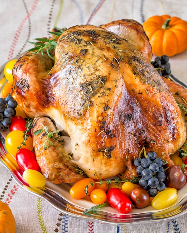 prepared turkey on a platter