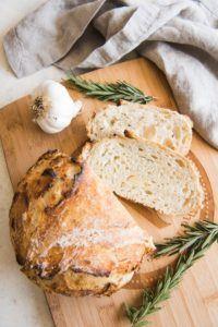 loaf of garlic rosemary bread