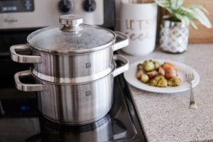 zwilling joy cookware set sauce pot with steamer insert