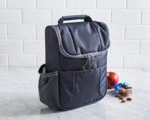 Trek insulated lunch bag in black