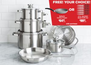free gift with cookware set - black friday deals