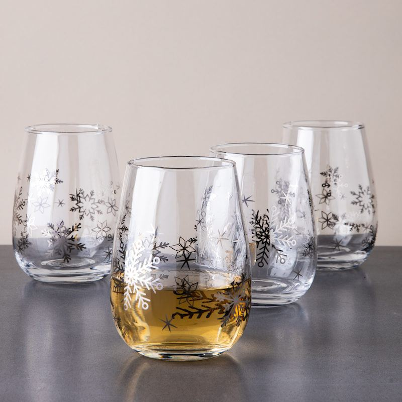 snowflake wine glasses -