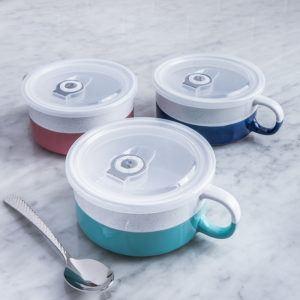 stoneware mugs with lids