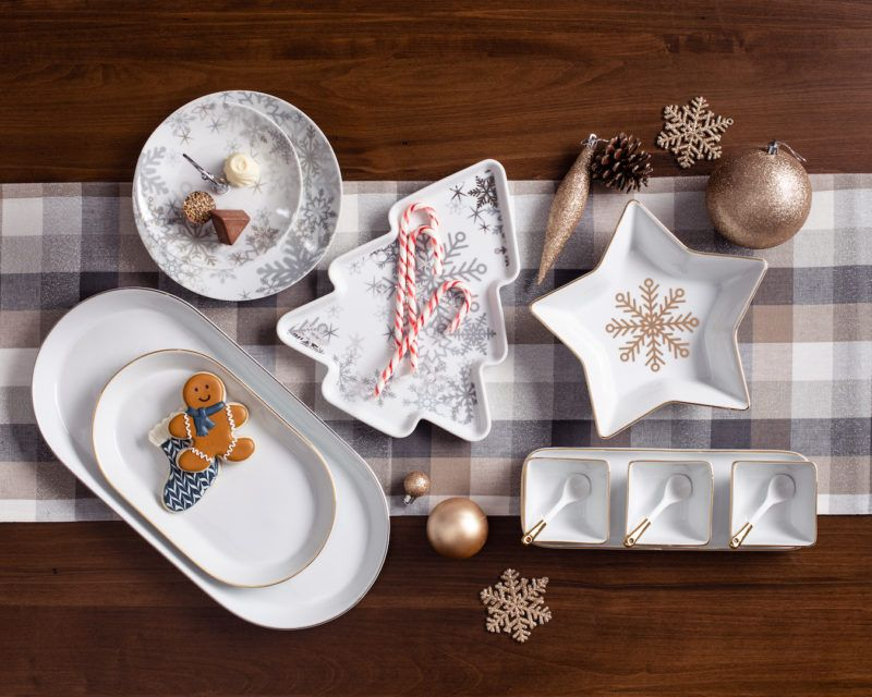 KSP Christmas Porcelain Serving Series