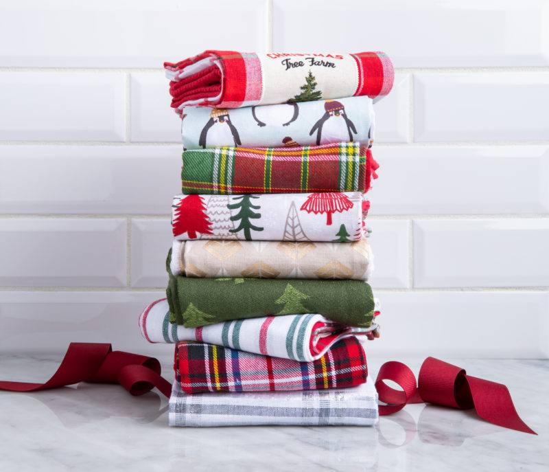 Harman Christmas Combo 'Vintage' Cotton Kitchen Towel - Set of 3 - $9.99