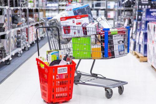 warehouse sale - shopping carts