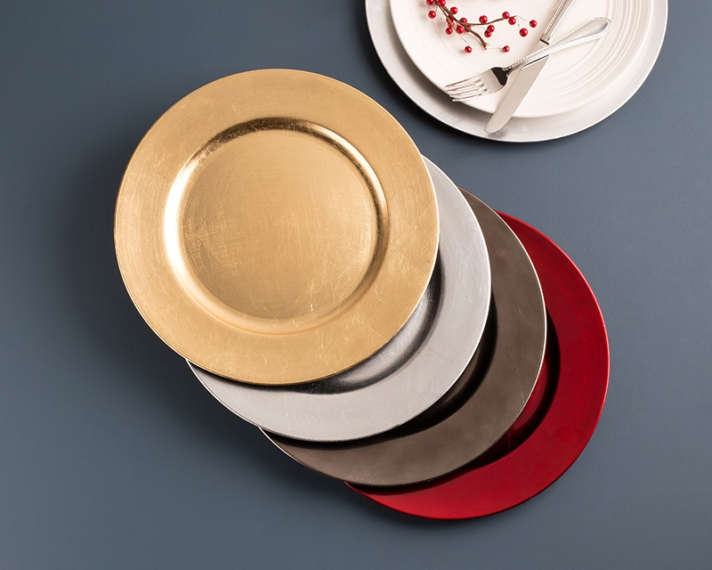 holiday charger plates