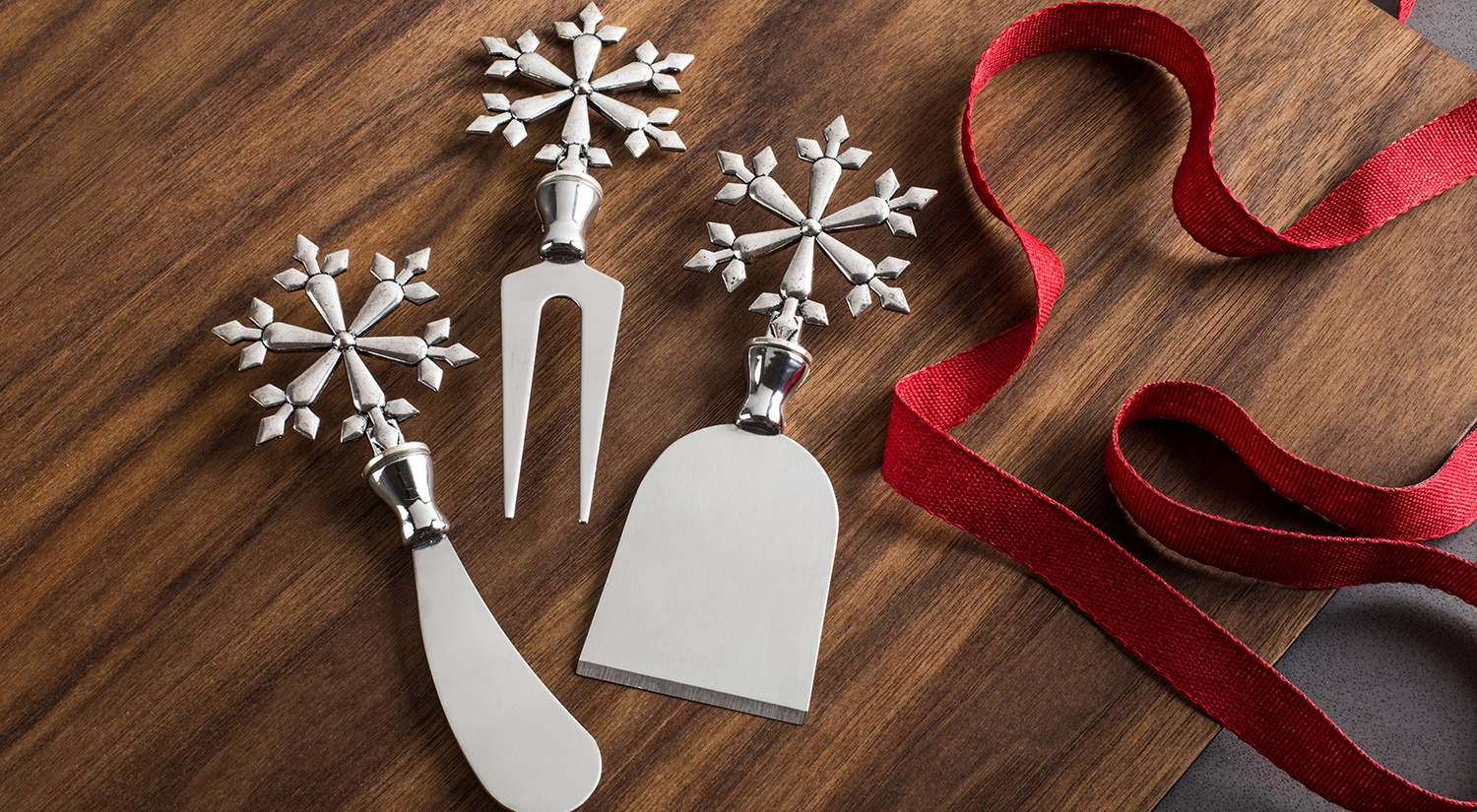 Christmas cheese knives