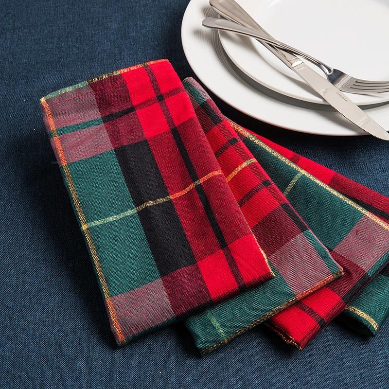 plaid napkins