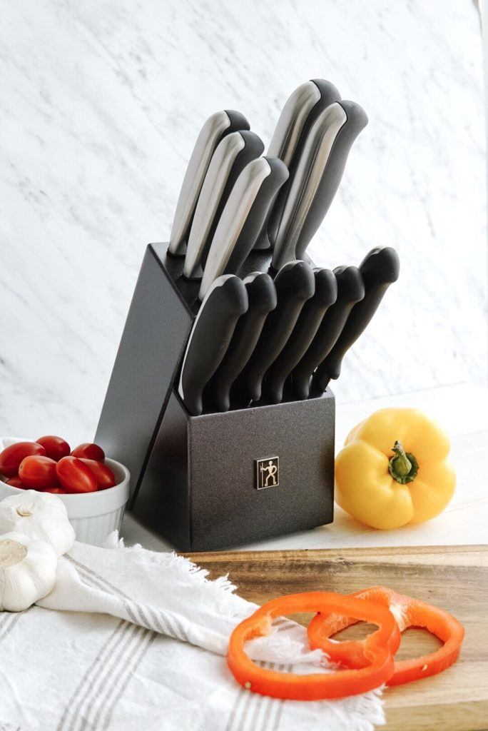 Henckels Everedge Plus II Wood Knife Block Set