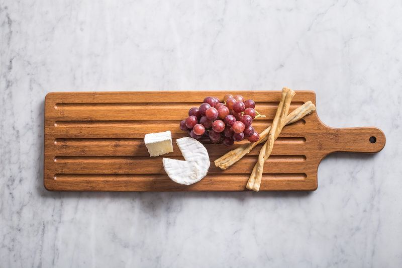 crushed bamboo serving board gifts under $20